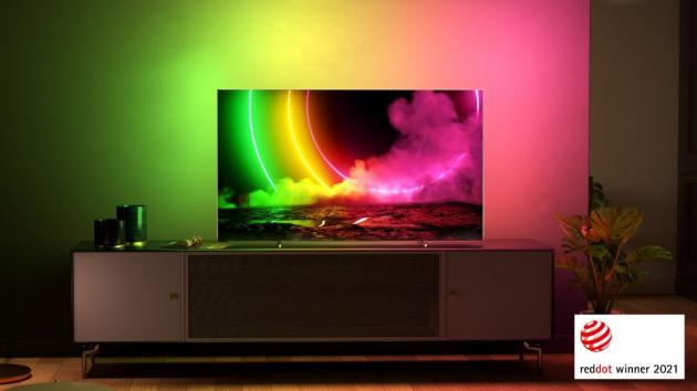 Prémiový high-endový televizor Philips OLED 806 TV