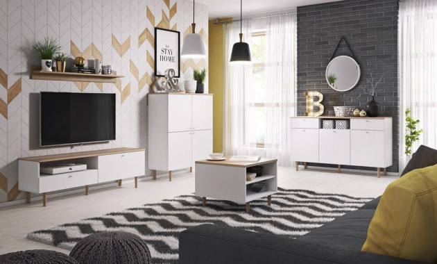 Skandinávský styl představuje komoda Loveli vyrobená z laminované dřevotřískové desky LDTD v provedení bílá /pískový dub, 150 × 86 × 40 cm, cena 3 499 Kč, www.jena-nabytek.cz