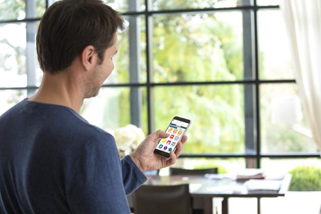 Mobilní aplikace Somfy TaHoma