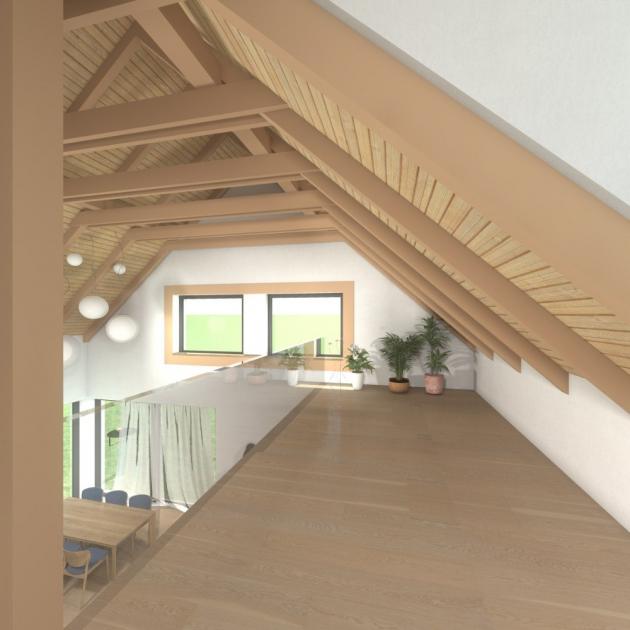 Dispozičně je objekt navržen jako 5+1. V suterénu se nachází garáž, technická místnost, prádelna, posilovna a skladové prostory pro sezónní vybavení domácnosti. V přízemí se počítá s prosvětleným obývacím pokojem, na který navazuje jídelní kout, kuchyně a rohová krytá terasa.