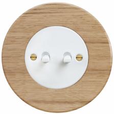 Páčkový vypínač RETRO se dvěma ovládacími páčkami (OBZOR)