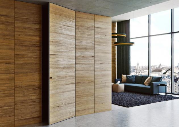Dveře z řady Master Door (J. A. P.) se skrytou zárubní, efektní provedení po celé výšce stěny, cena od 14 944 Kč, www.dvere-jap.cz