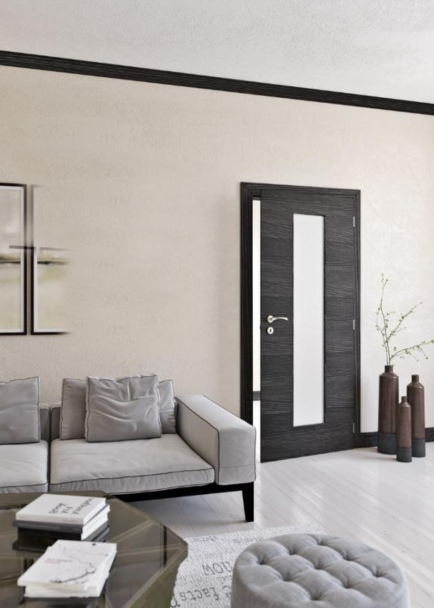 Dveře z řady Klasik 7 (Solodoor), CPL laminát, odstín kaštan horský, cena na dotaz, www.solodoor.cz