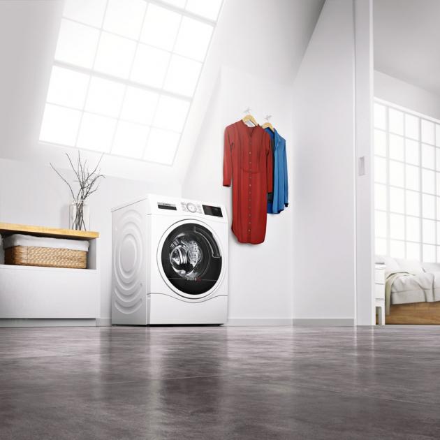 Kombinovaný typ pračky se sušičkou WDE 28540EU (Bosch), třída A, technologie AutoDry zajistí perfektní výsledky sušení, kapacita 10/6 kg, cena 26 990 Kč, www.bosch-home.com/cz