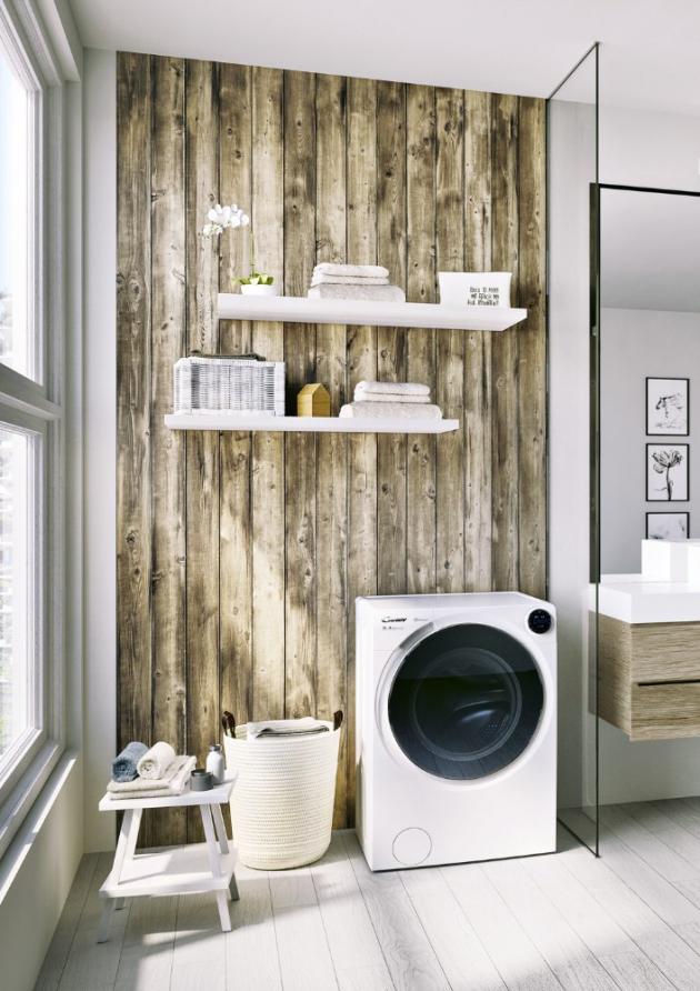 Úzký typ kombinované pračky se sušičkou BWD 596PH3 (Candy), třída A, kapacita 9 a 6 kg, hloubka pouhých 54 cm, cena 14 490 Kč, www.candy-hoover.cz