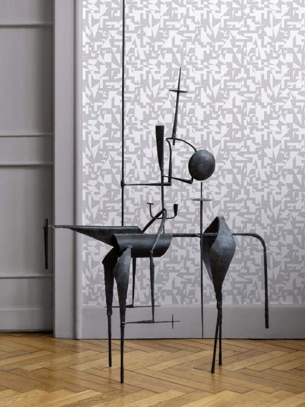 Vliesová tapeta Anyway grey (Lavmi), 0,53 × 10,05 m, cena 1 870 Kč, www.lavmi.cz