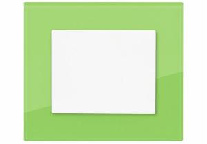 Vypínač DECENTE se skleněným rámečkem – odstín palmově zelená (OBZOR)