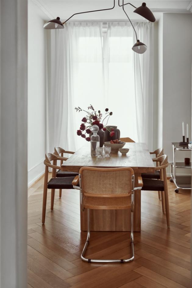 S novým začátkem ve Švýcarsku oba rozvíjeli také svůj společný životní styl. Co se týče vybavení, Sandra a Miguel zvolili kontrast klasických pokojů s vysokými stropy a krásnými dřevěnými podlahami.