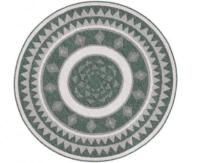 Vnitřní i venkovní oboustranný koberec Jamaica (Bougari), polypropylen, O 140 cm, cena 1 614 Kč, www.westwingnow.cz