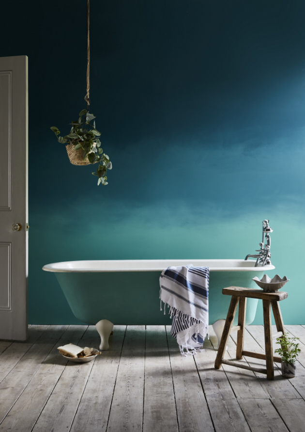 Annie Sloan, Ombre Aubusson Blue, Provence Chalk, www.anniesloan.com