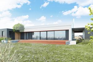 Projekt bungalovu pro útulné a funkční bydlení