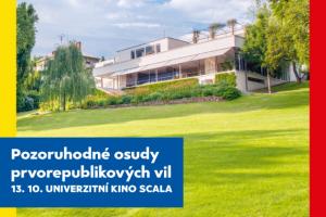Pozvánka: Pozoruhodné osudy prvorepublikových vil